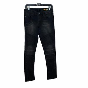 BLANK NYC Moto Skinny Jeans Zippered Ankles